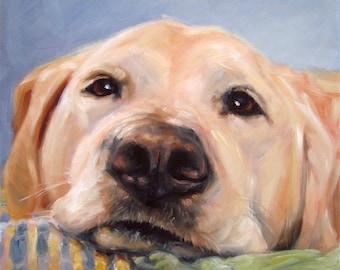 "GoldenGirl, memorial portrait pet portrait in Oils by puci, 10x10"""