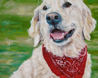 """Smiles'nStyles, CUSTOM Pet Portrait Oil Painting by puci, 10x10"""""""