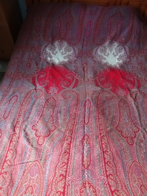 Antique Victorian very large Paisley Shawl