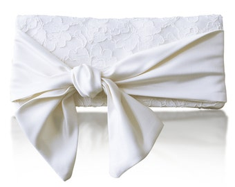 Ivory lace bridal wedding HOPE clutch purse, bridesmaids, mother of the bride