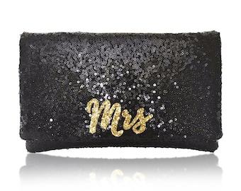 MRS sequin clutch purse handbag