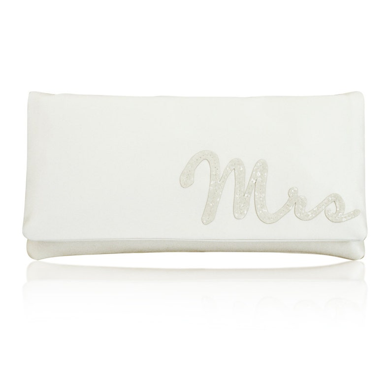 MRS wedding day bridal clutch purse image 0