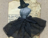 Black Witch Goth Halloween Dress Form Dress Tags 503