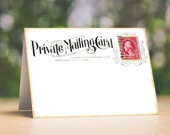 PRIVATE MAILING POSTCARD WEDDING PLACE CARDS TAGS or ESCORT CARDS #33