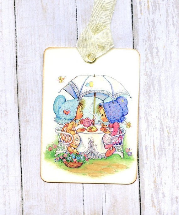 Hang Tags  FRENCH STYLE TEACUP POSTCARD TAGS or MAGNET #73  Gift Tags