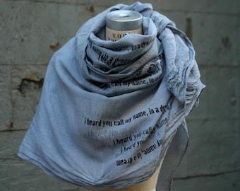 i heard you call my name, in a dream scarf , gunmetal gray