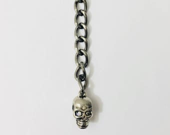 Keychain skull silver chain , holiday gifts, cool keychains