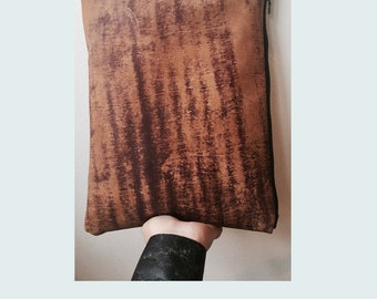 sale Distressed Leather Handbag Clutch Purse Ipad case, Natural, Zippered Bag, cool pouch