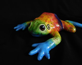The Original Tie Dye Peace Frog