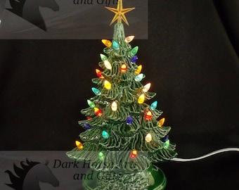 popular items for ceramic christmas tree - Vintage Ceramic Christmas Tree With Lights