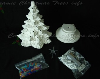 Ready To Paint Ceramic Christmas Tree Kit 11 Inches Etsy