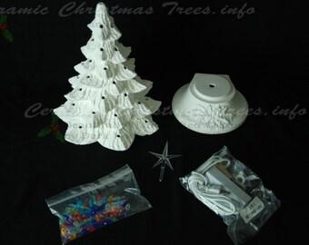Ready To Paint Ceramic Christmas Tree Kit 11 Inches Etsy