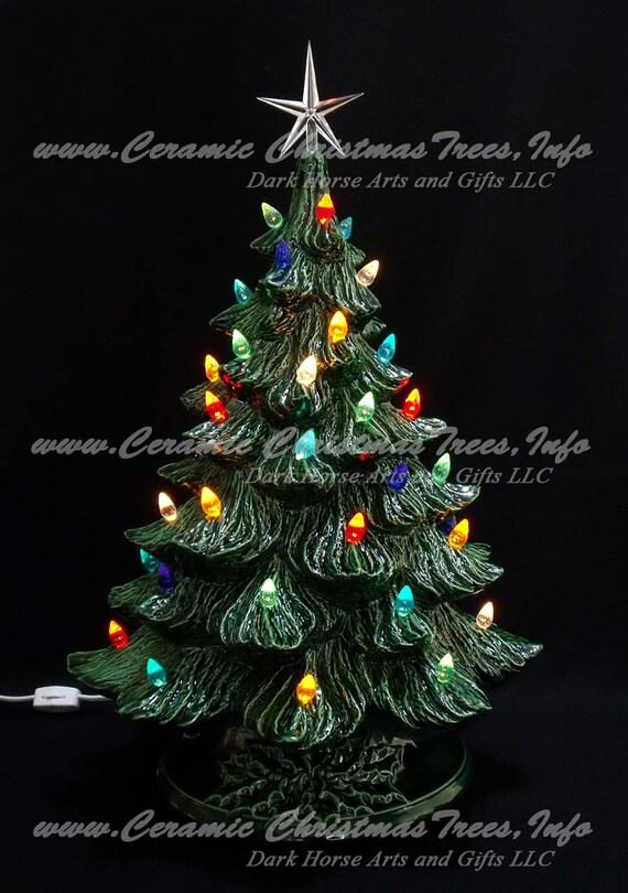 Ceramic Christmas Tree Vintage.Vintage Style Ceramic Christmas Tree 19 Inches