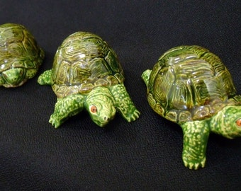 Miniature Turtle Set - Ceramic Turtles