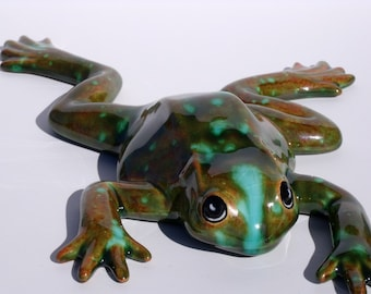 OOAK Greeney-Brown Speckled Frog