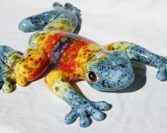 The Original Tie Dye Frog - Large Ceramic Frog