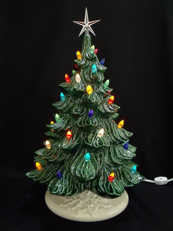 Classic Ceramic Christmas Tree W Music Box 19 In Etsy