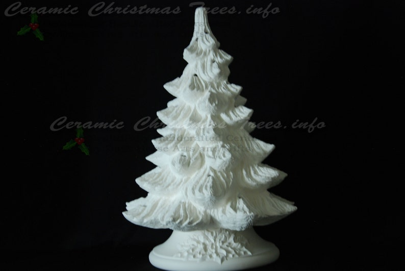 Ready To Paint Ceramic Christmas Tree Kit W Music Box 16 Inches