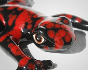 Red and Black Frog - Large Lava Frog