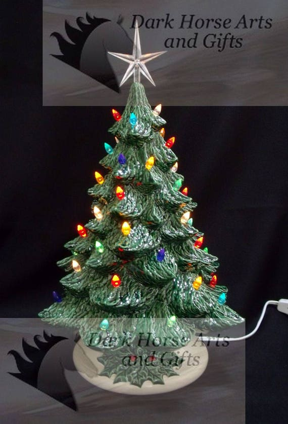 Old Fashioned Ceramic Christmas Tree 16 Inches Etsy
