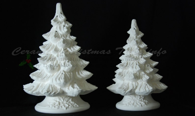 Ready To Paint Ceramic Christmas Tree Collection Kit 16 And 19 Inches