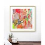 Coral Abstract Watercolor Painting Art Print, Abstract Wall Art, Boho Chic Wall Decor