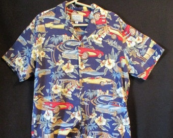 d6f7b991 Vintage Hawaiian Shirt Size Large made in Hawaii Kalaheo
