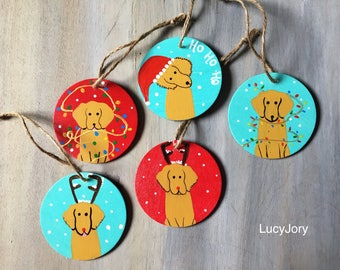 Golden Retriever Christmas Tree Ornaments 10 each