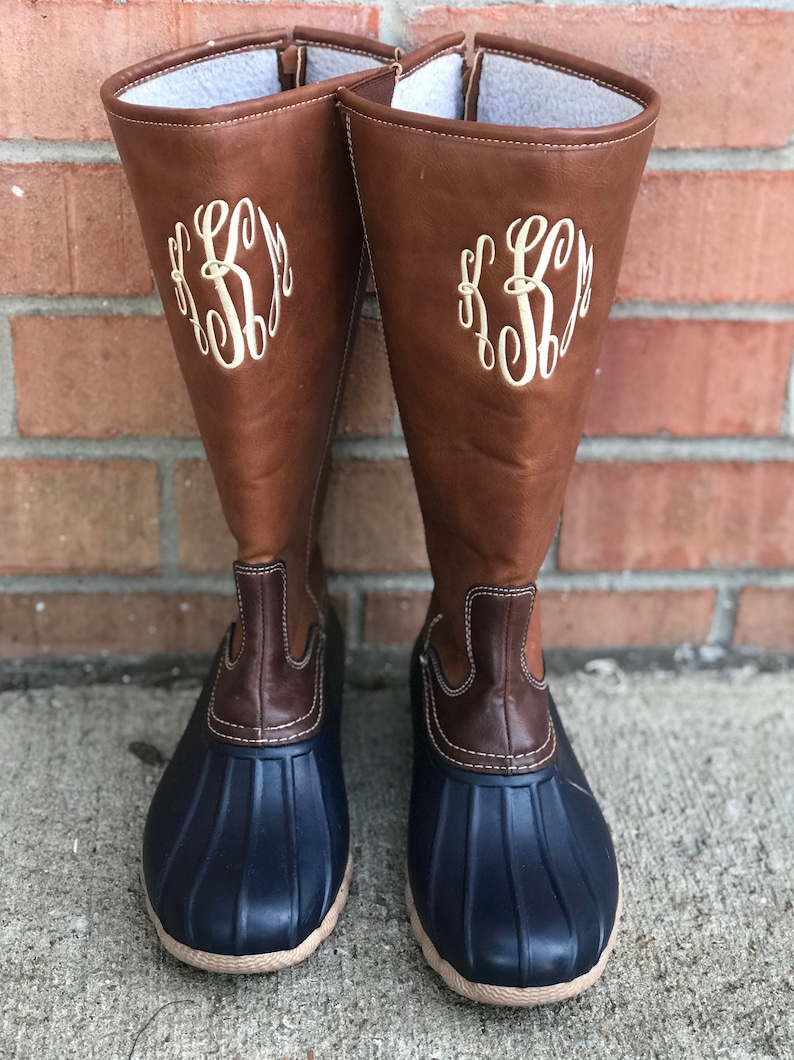 a804e71649365 Monogram Duck Boots - Tall Monogram Duck boots IN STOCK!!!
