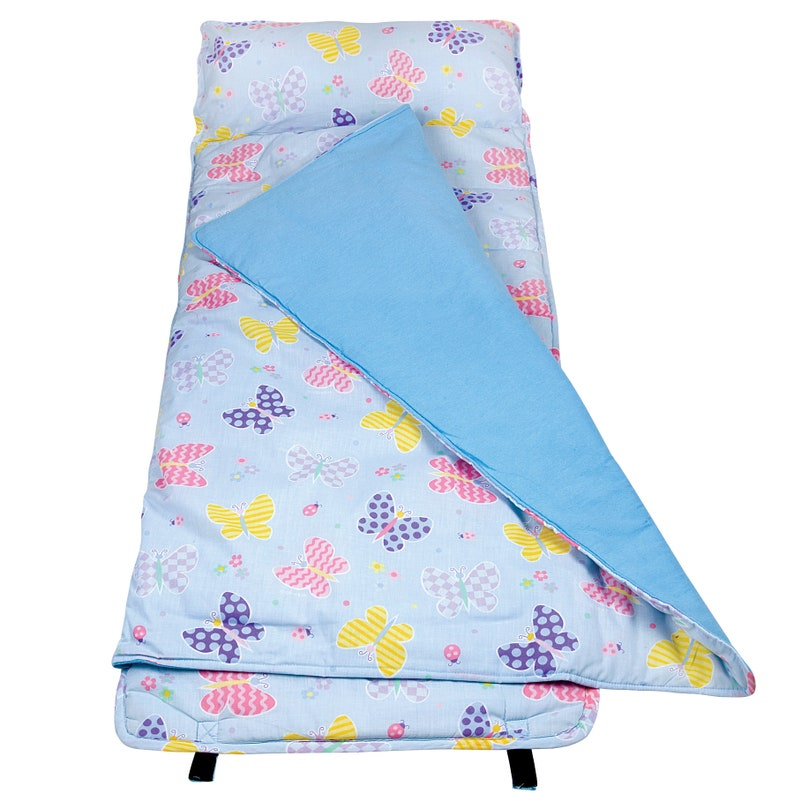 Day Care Kids Napmat Wildkin Out of This World Monogram Napmat Butterfly Garden Nap Time Back to School Preschool Napmat