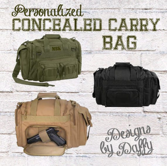 900f11bc17f8 Concealed Carry Bag - Personalized Concealed Carry Duffel