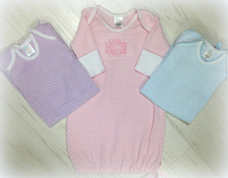 b60b934aa380 Monogrammed Paty Gown Set Monogram Infant Gown Gift for