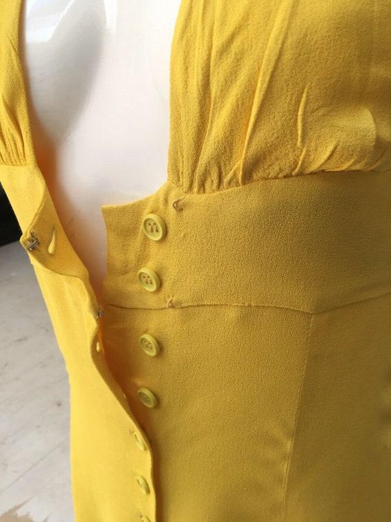 Authentic OSSIE CLARK Yellow Crepe Halter Maxi Dr… - image 5