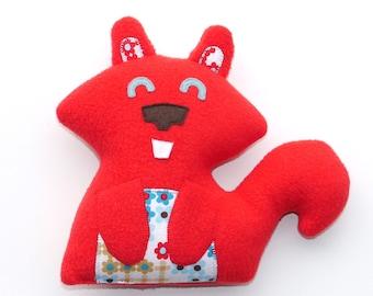 Red Squirrel Plush, stuffed animal, stuffie, baby gift, animal, cute, softie, plushie, squirrel