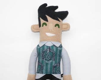 Brian of Slytherin House Plush doll, doll, stuffie, harry potter, harry potter fan, slytherin, art doll, plushie, stuffed animal