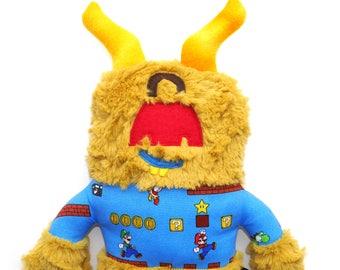 Griff Monster Plush, stuffed animal, Super Mario bros, cuddly, cute, huggable, lovie, child friendly, plushie