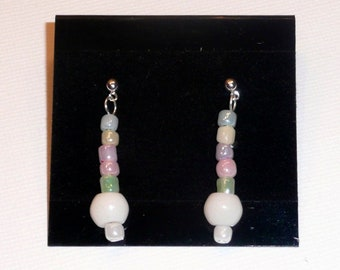Candi Drops - Simple everyday stud earrings in pastel colors.