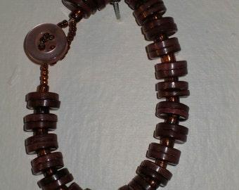 Copper - Button bracelet