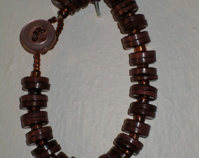 Copper - Button bracelet