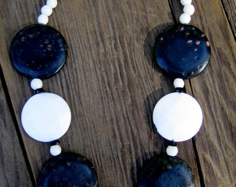 Checkers - Black and White necklace