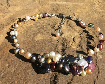 Perura - Multicolored pearls necklace