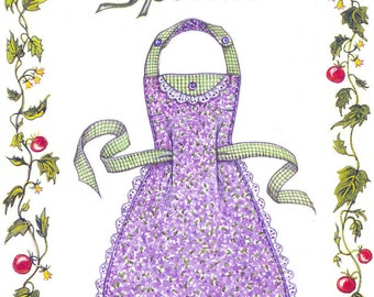 Blue Plate Special Apron Pattern