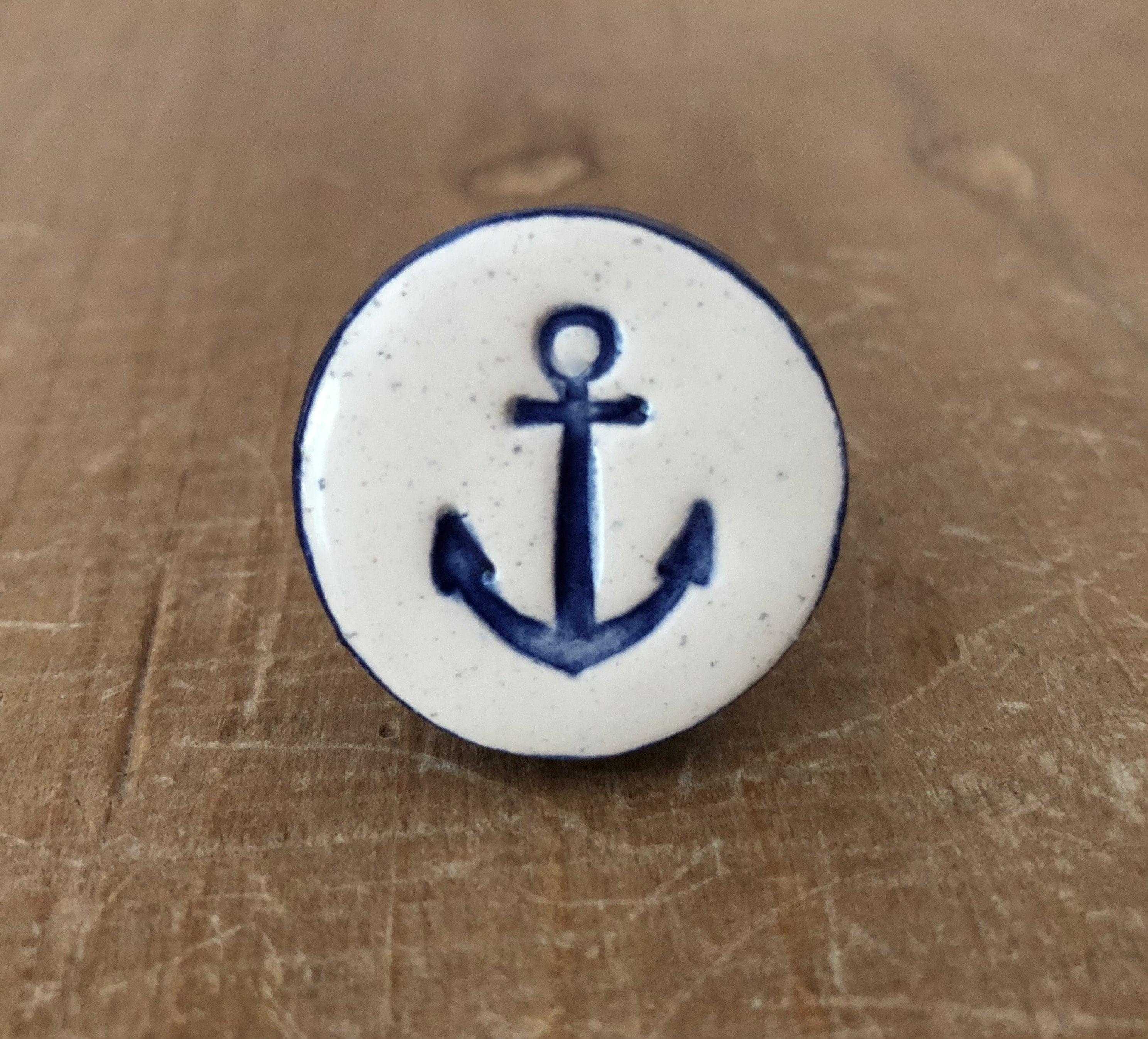 Anchor Knob Anchor Hardware Nautical Knob Drawer Pull Etsy