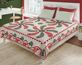 Princess Feathers Red Green Applique 120