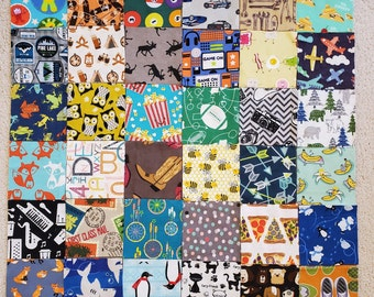 Price SLASHED I SPY lap or floor quilt TRENDY Birthday Gift Handmade One of a Kind boys/' motif.