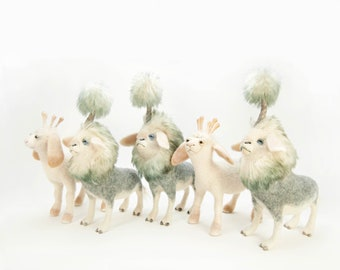 Celestial Lambs and Weather Makers wall art - Digital Download - imaginary animal sculpture image - easy to print and frame
