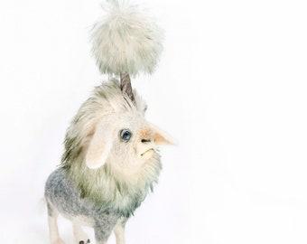 Weather Maker Digital Download Print - imaginary animal sculpture picture - digital wall art image
