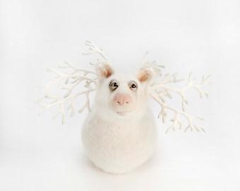 Snowball Bear Digital Print Download - imaginary animal cute sculpture - artwork wall image