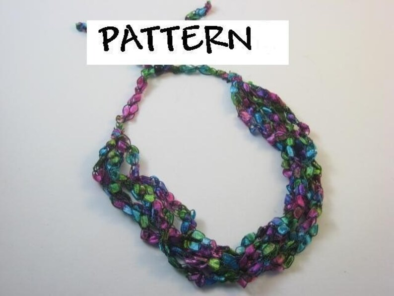 Trellis Ladder Yarn Crochet Necklace Pattern Etsy