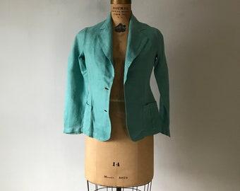 Rare Australian made late 1920s early 1930s linen overcoat racing coat antique Art Deco